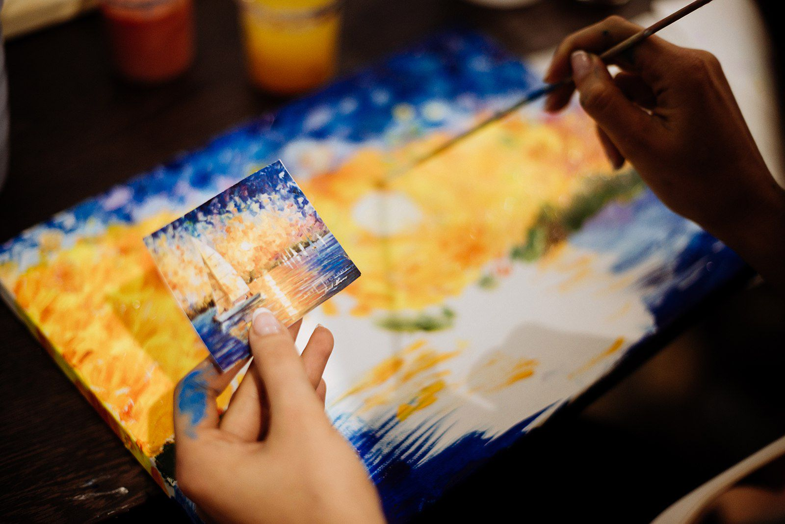 Мастер-класс «Картина за 3 часа» в студии живописи ZuART фото 3
