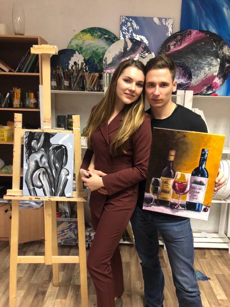 Арт-свидание для двоих в студии рисования и живописи ZuART фото 2