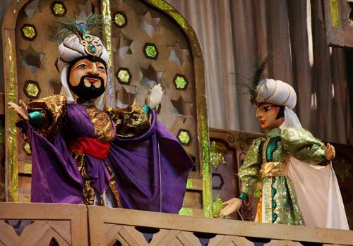 Спектакль «Волшебная лампа Аладдина» в Театре кукол им. С. В. Образцова фото 3