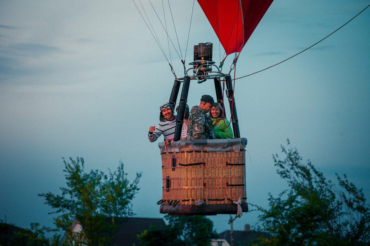 Индивидуальный классический полёт для 3-х человек на воздушном шаре фото 1