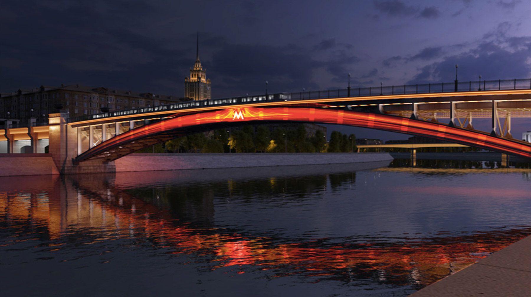 Светомузыкальные шоу на Смоленском мосту фото 1