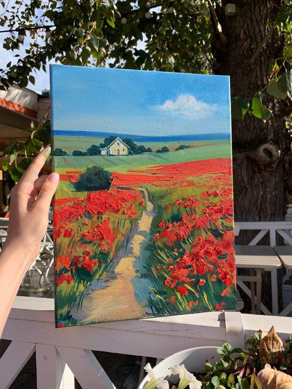 Мастер-класс по живописи маслом «Маковое поле» фото 4