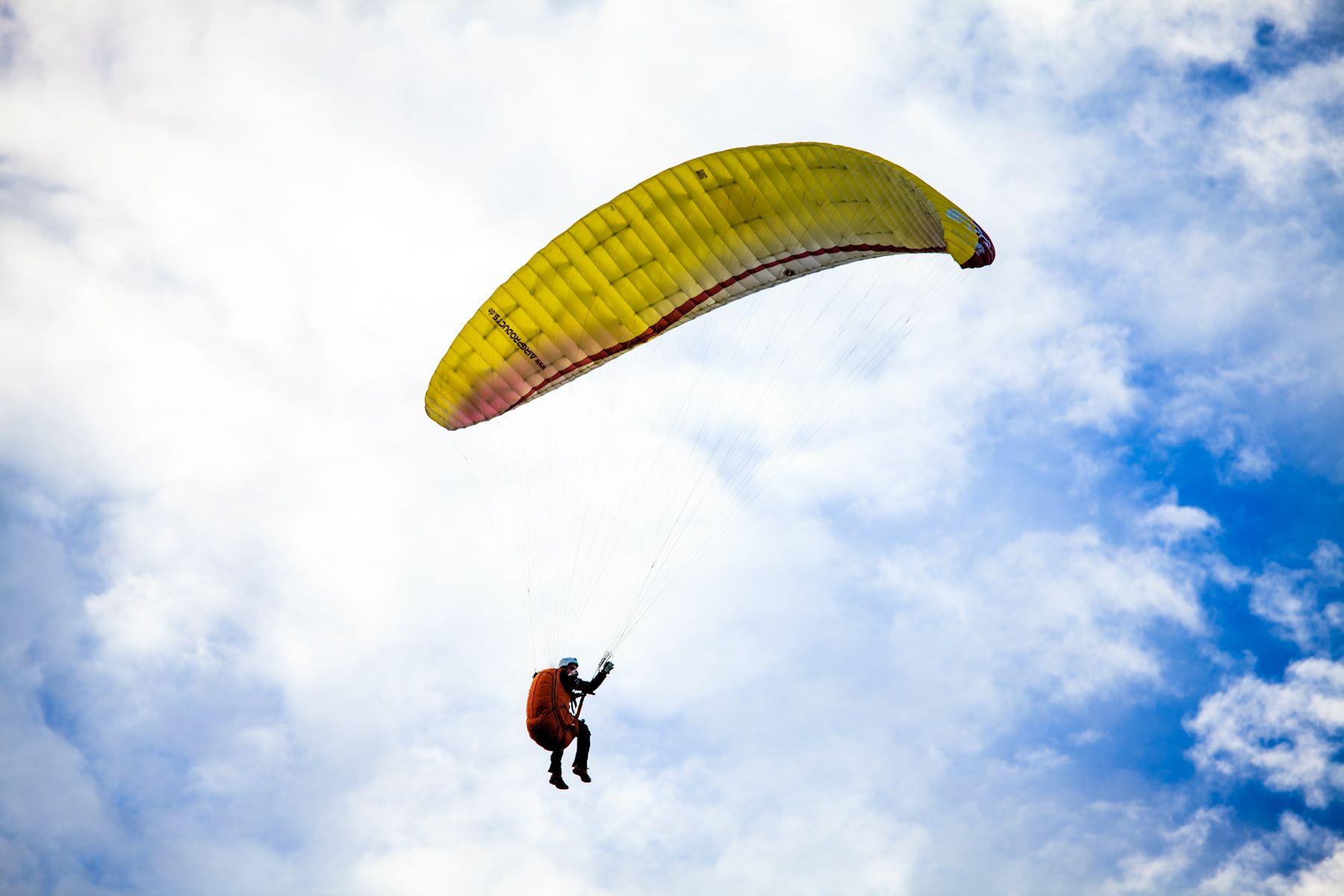 Обучающий полёт на параплане фото 1