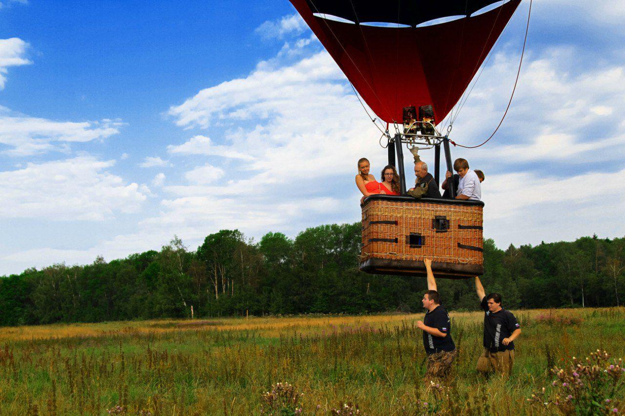 Полёт на воздушном шаре в группе фото 3