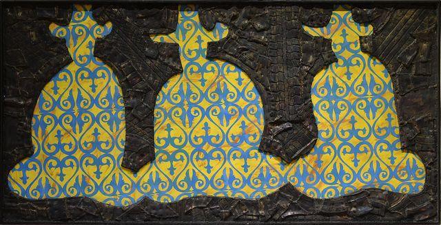 выставка «Чёрные вихри на синем или зелёно-голубом фоне»