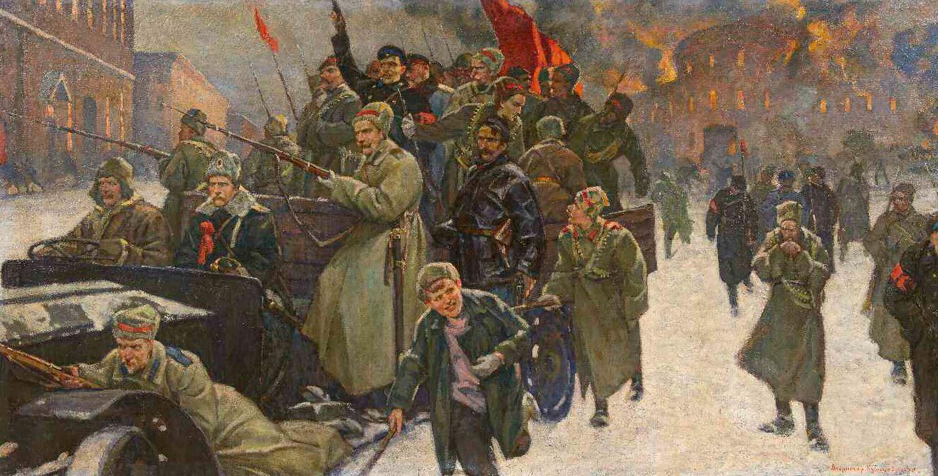 Революция 1917 в картинках, днем рождения