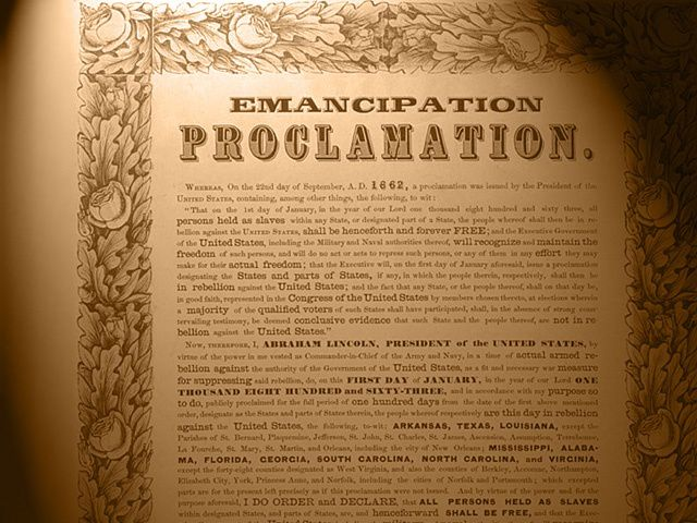 the effects of abraham lincolns emancipation proclamation on the economy of the south