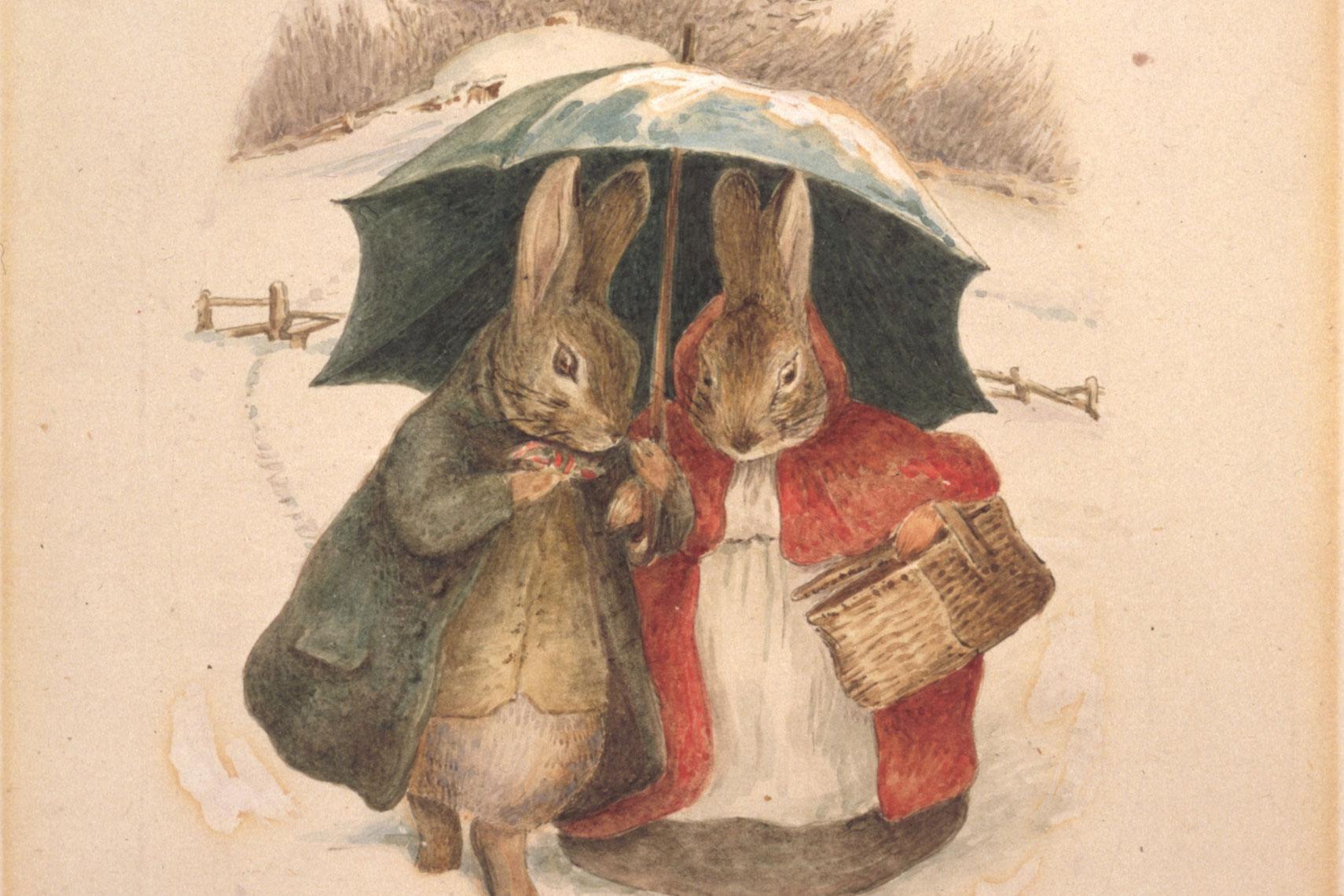 Открытки кролик питер