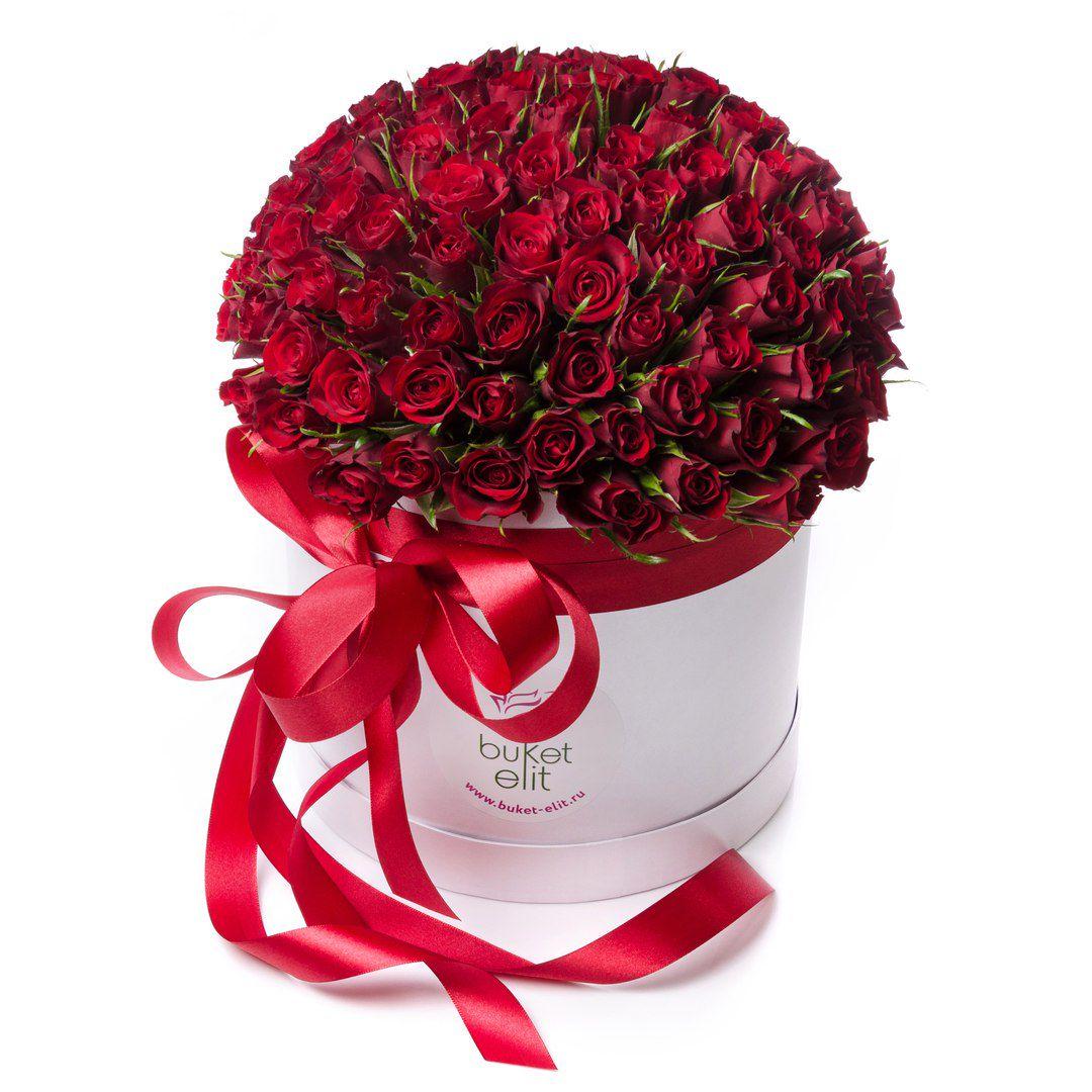 Букеты роз в шляпной коробке от компании «Букет элит» со скидкой до 63% фото 2