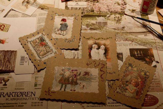 Как сделать старинную открытку 63