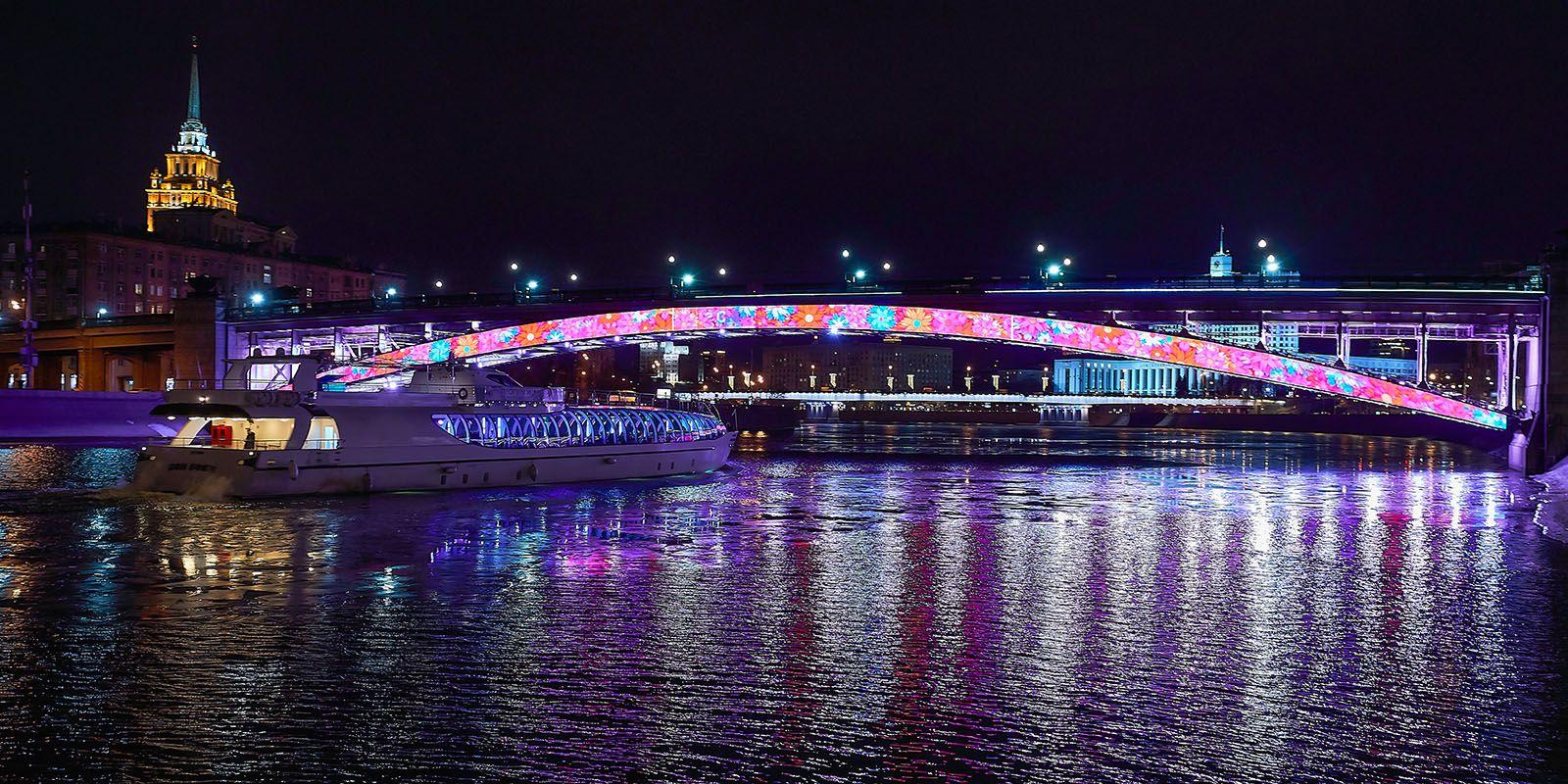 Светомузыкальные шоу на Смоленском мосту фото 4