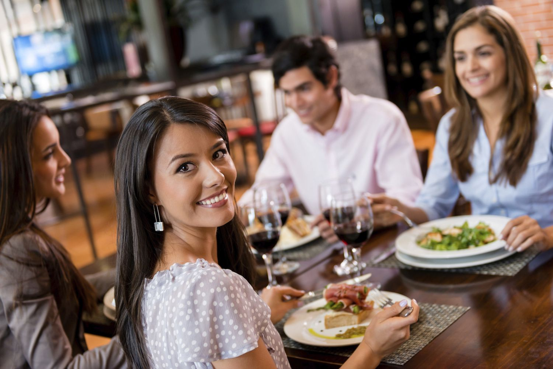 yummy ladies are having dinner and enjoying lesbian threesome  83809
