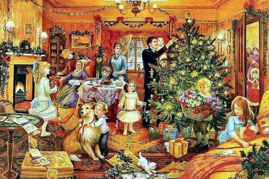 Открытка, рождественские семейные открытки