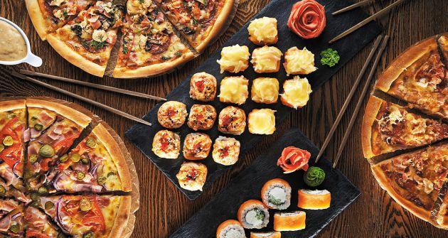 Скидка 50% на доставку роллов и пиццы фото 1