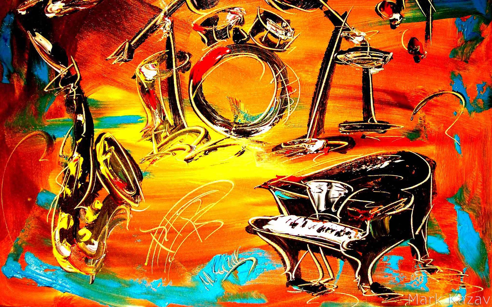 Поздравление с днем рождения в стиле джаз