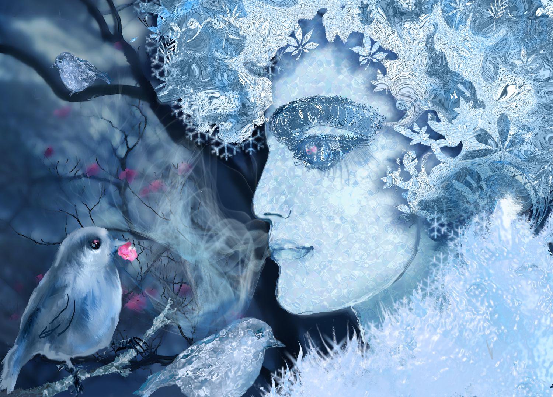 рисунок дыхание зимы обнаружением