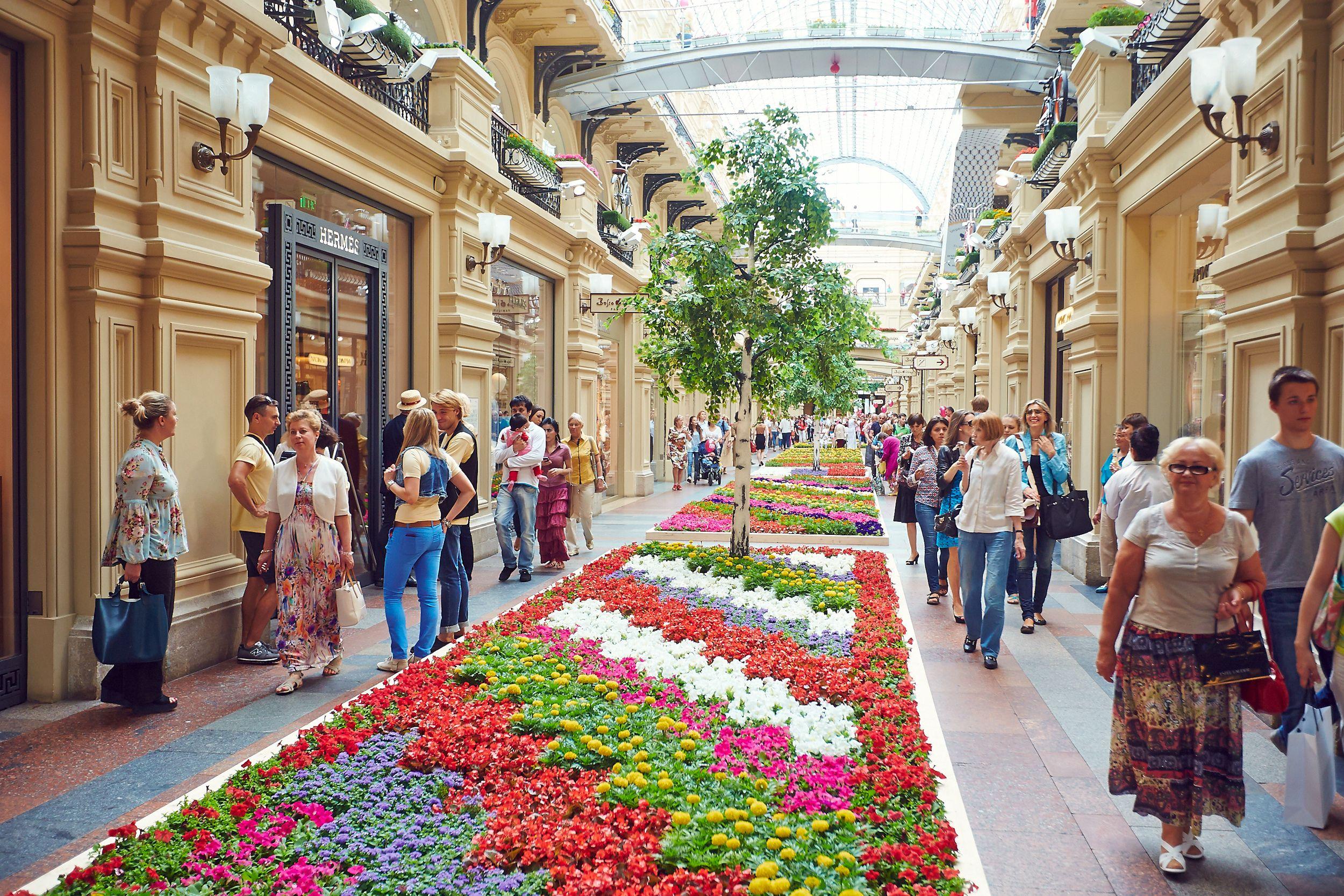 Фестиваль цветов в ГУМе фото 4
