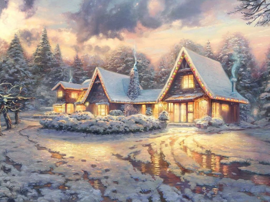 Зимняя сказка открытка