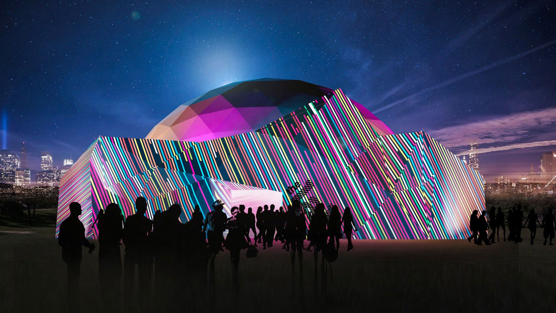 Открытие сферического мультимедиа-зала «АтмаСфера 360» и уличный фестиваль иммерсивного искусства в «Зелёном театре» Стаса Намина фото 1