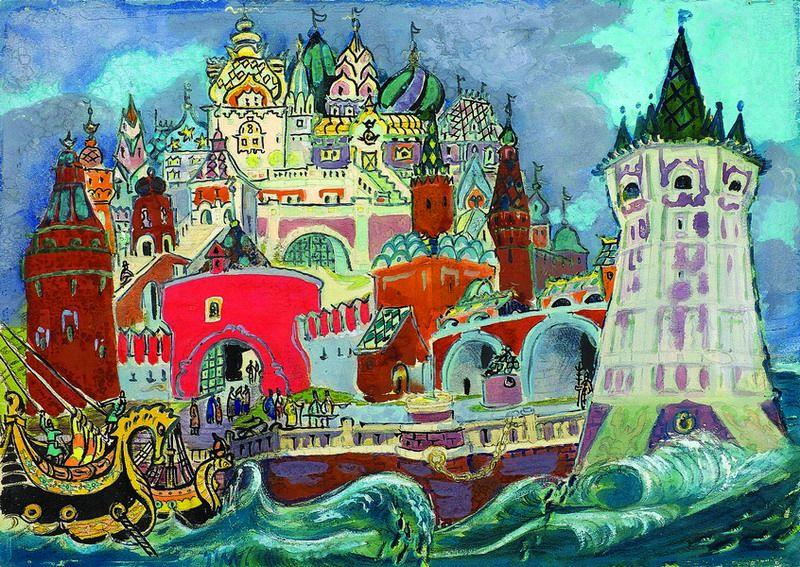 картинки города из сказки о царе салтане очаровательные ямочки