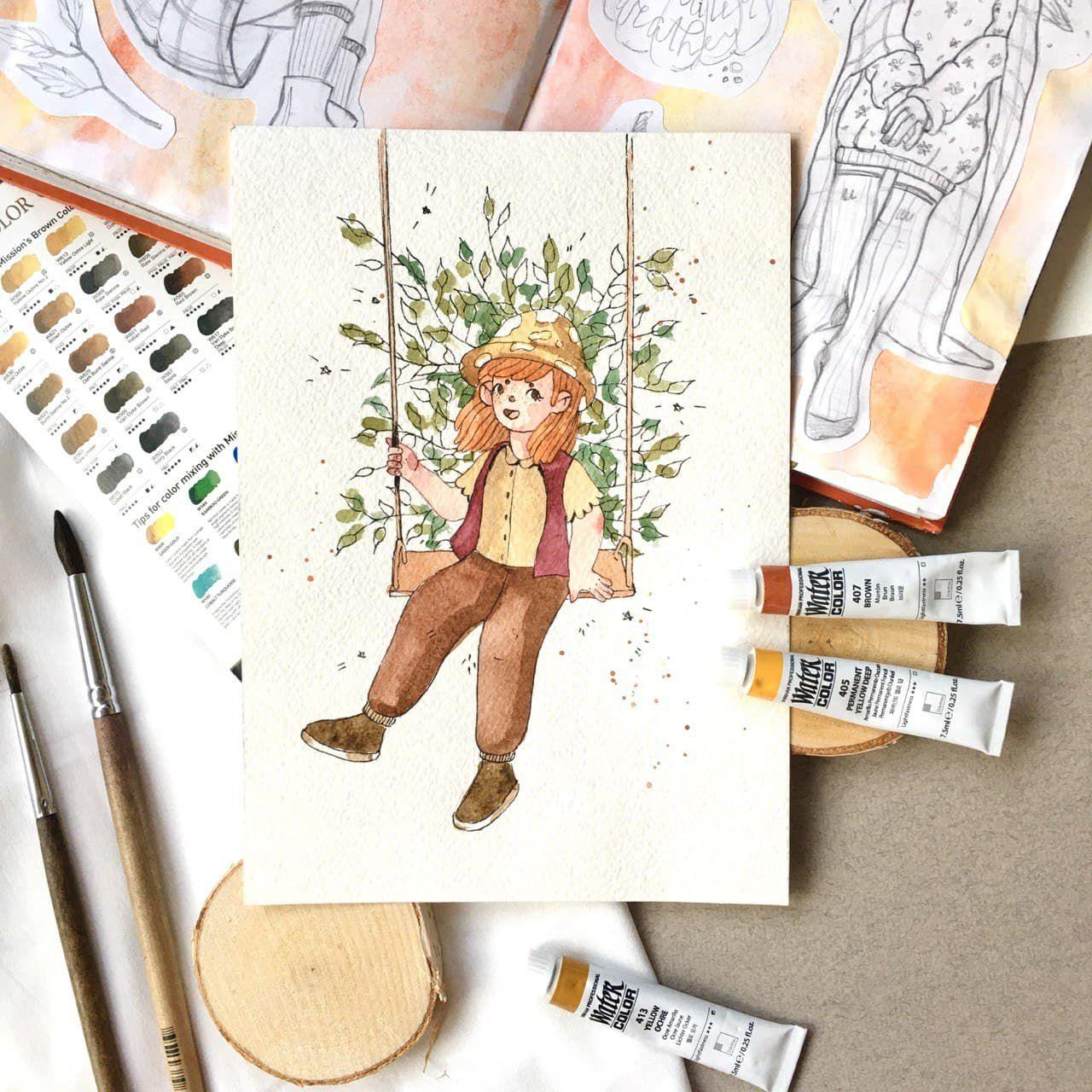 Курс «Книжная иллюстрация» в студии рисования «Возьми кисть» фото 3