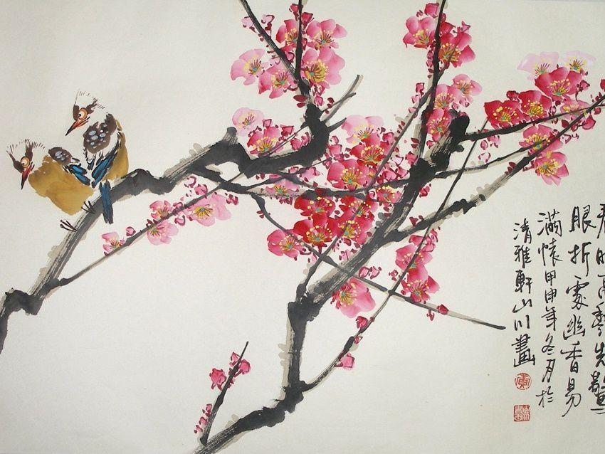 картинки японских картин стихи хокку статье