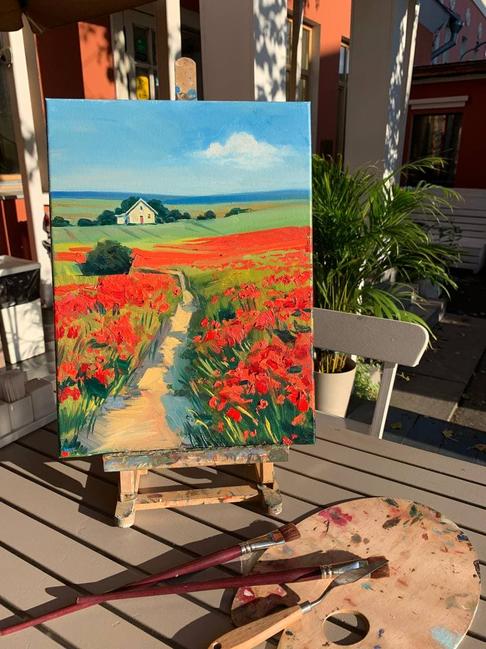Мастер-класс по живописи маслом «Маковое поле» фото 3
