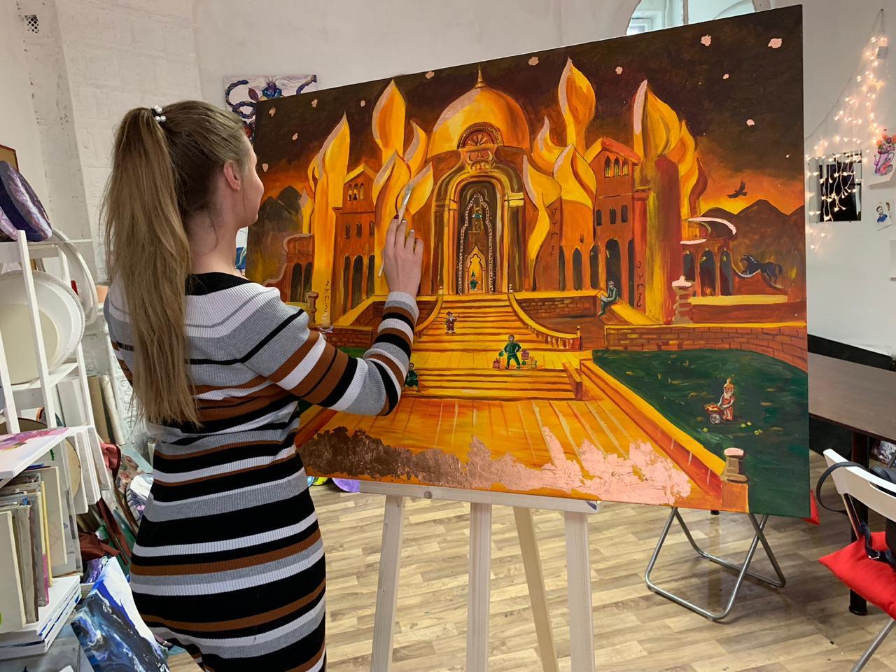 Мастер-класс «Картина за 3 часа» в студии живописи ZuART фото 1