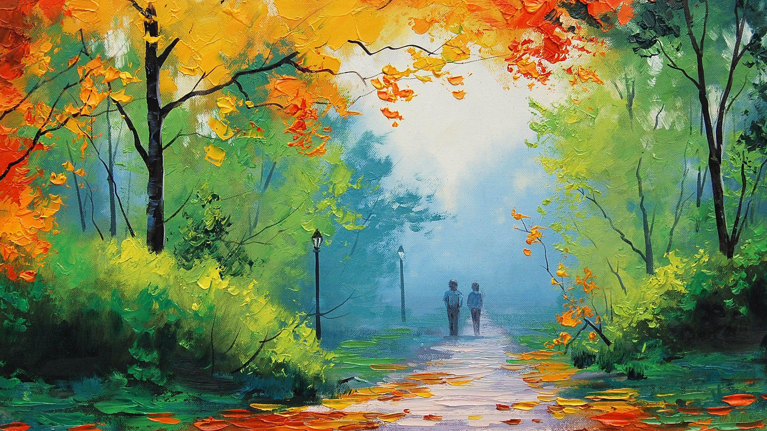 обои на рабочий стол картины известных художников осень № 247553 загрузить