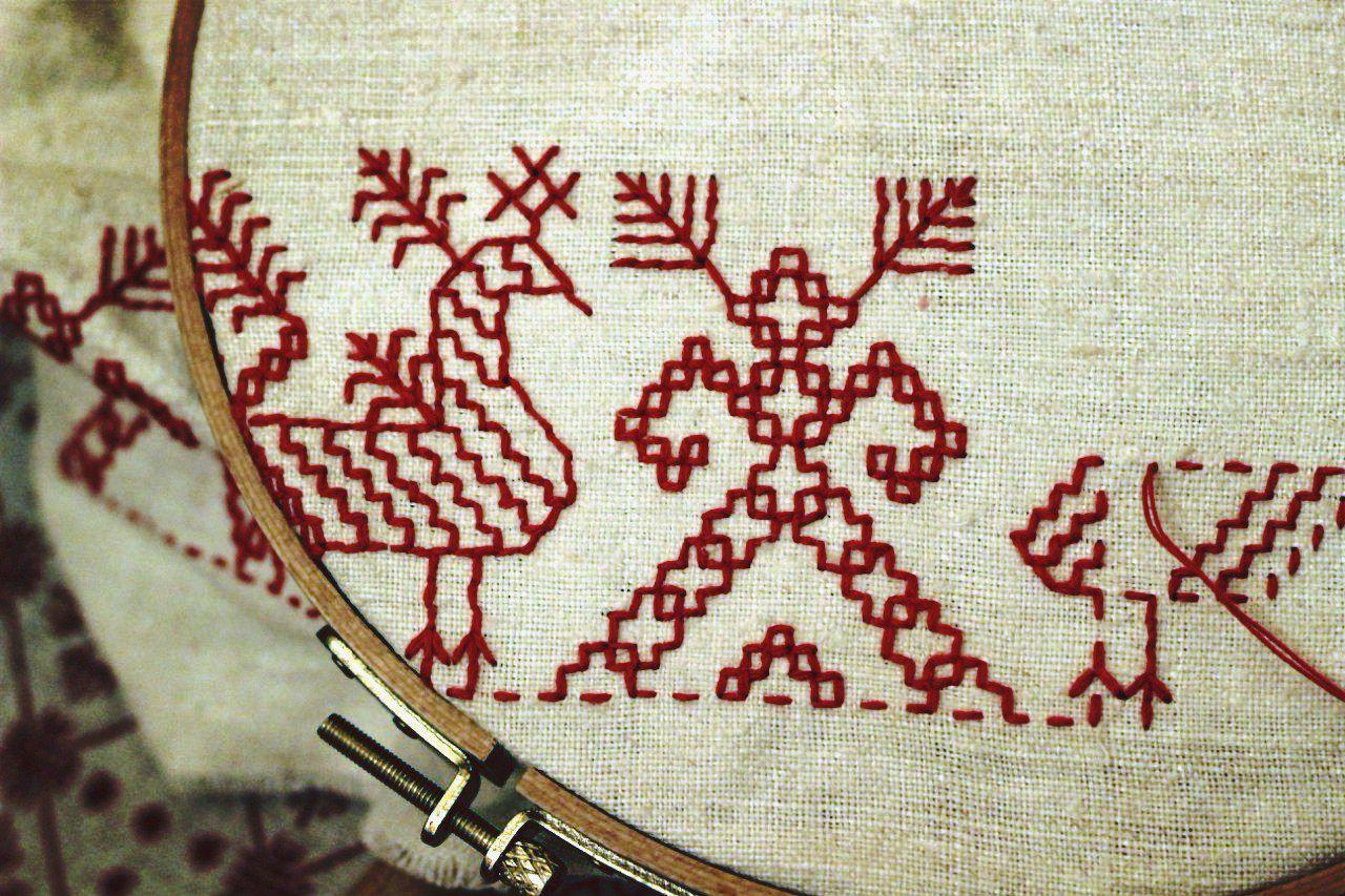 Блог вышивка с историей