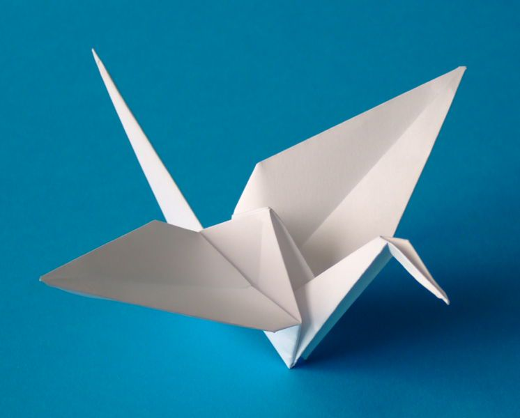 Изобр по > Птица Оригами