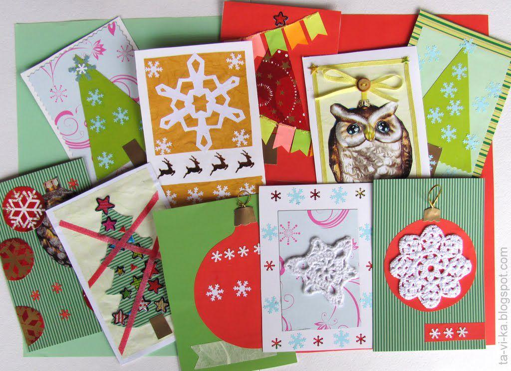 Дени рождения, открытки детские своими руками на новый год