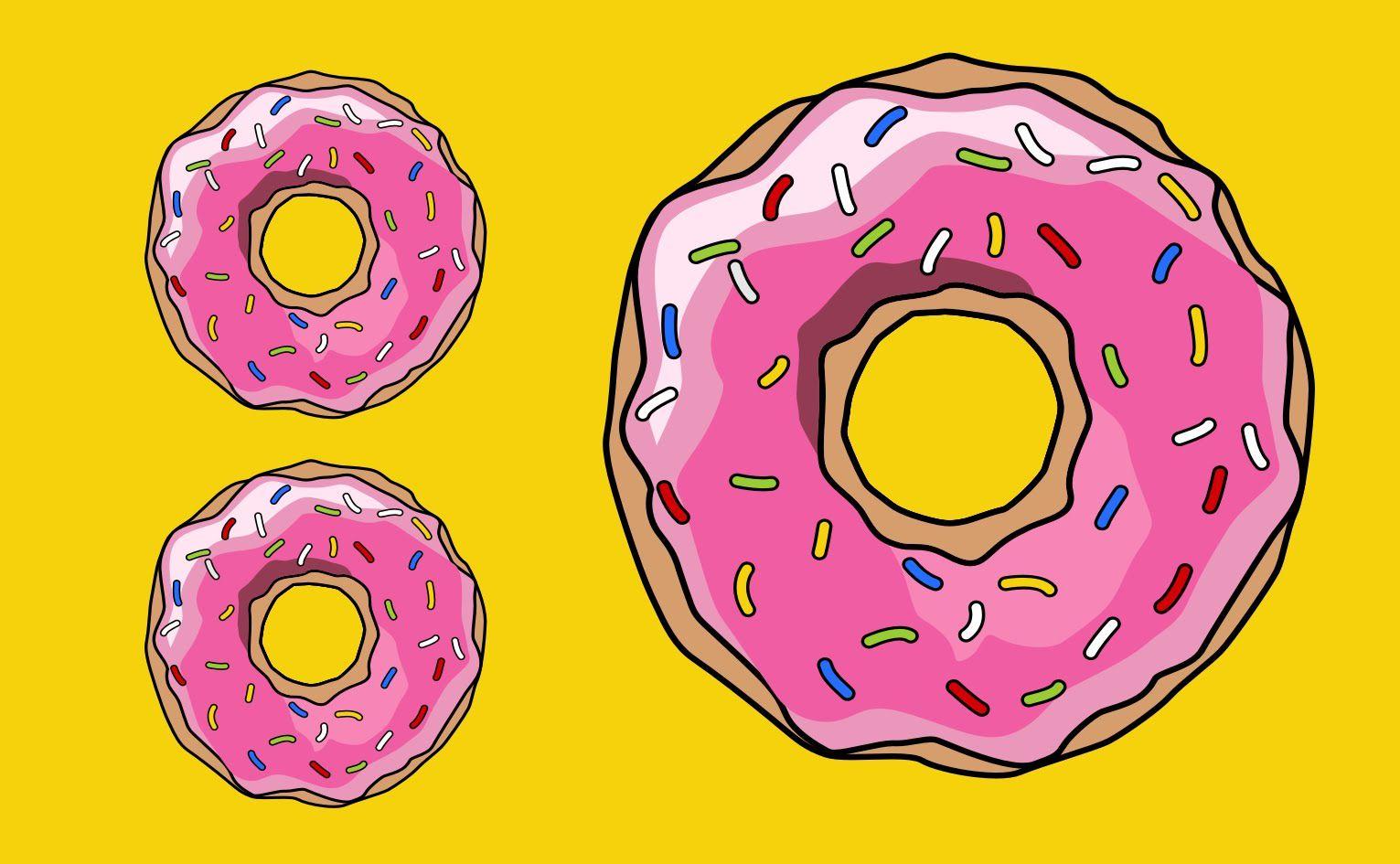 Пончики картинки для срисовки