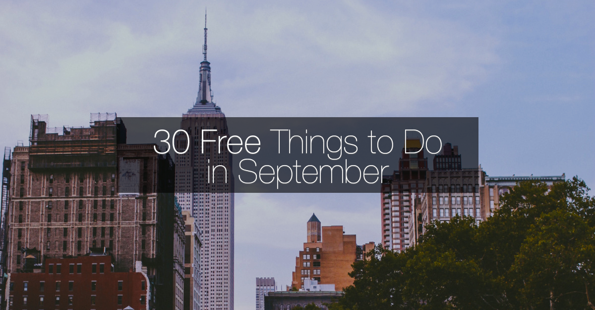 Free things to do in nyc this september in new york for List of things to do in new york