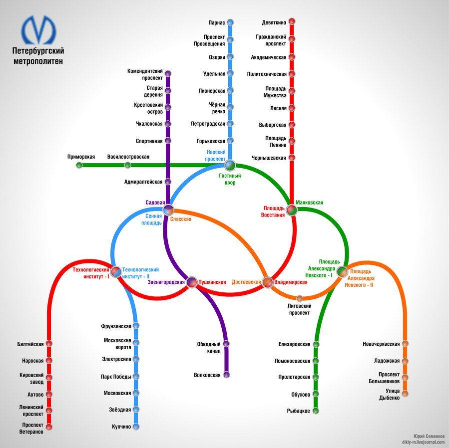 Рассчитать время в метро спб