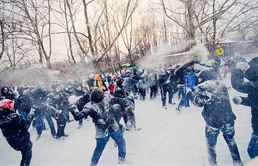 Снежный бой картинки
