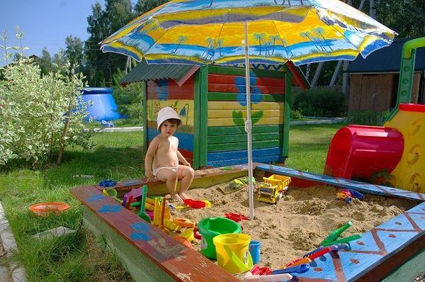 Детские площадки и песочницы своим руками