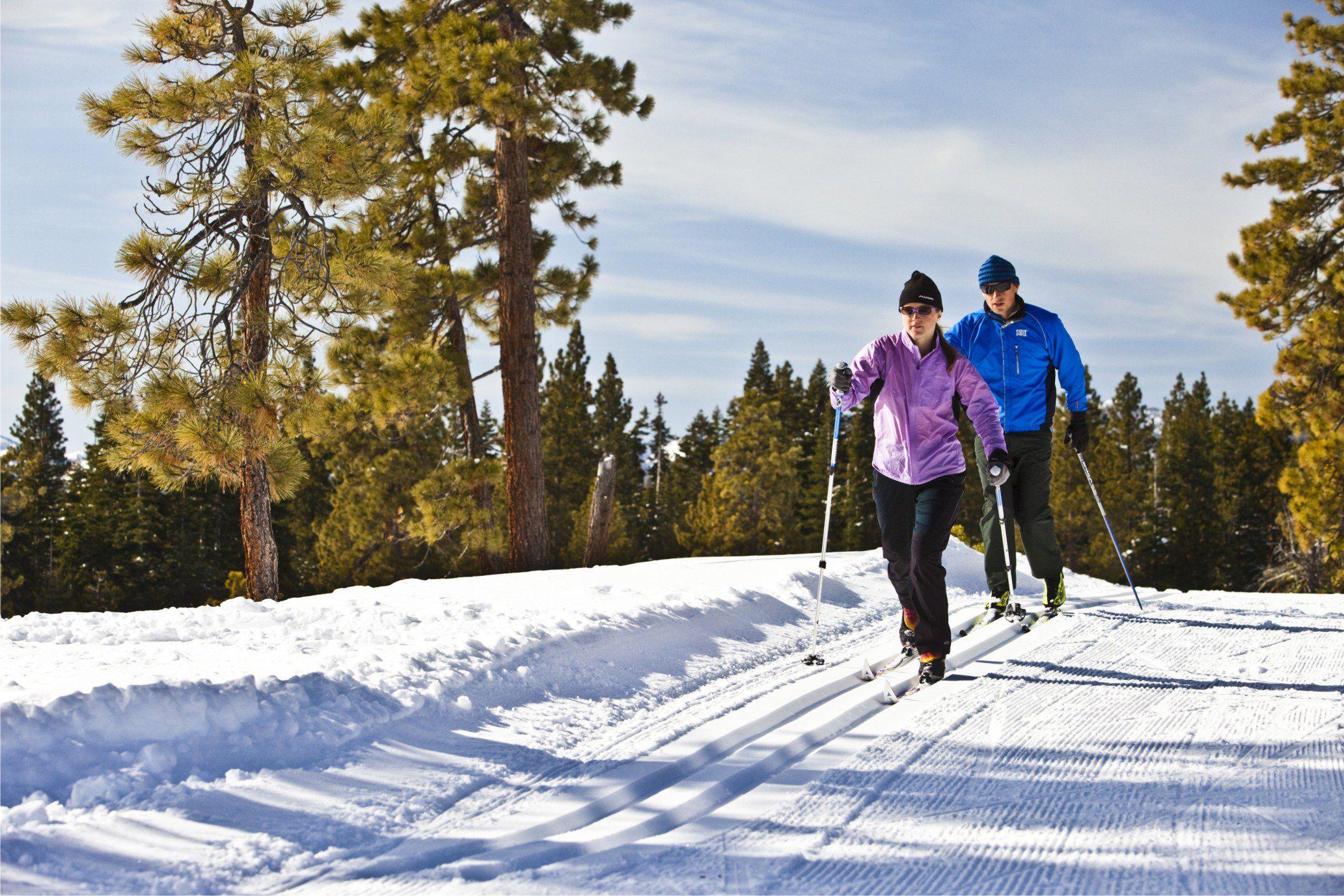 Картинка зимой на лыжах
