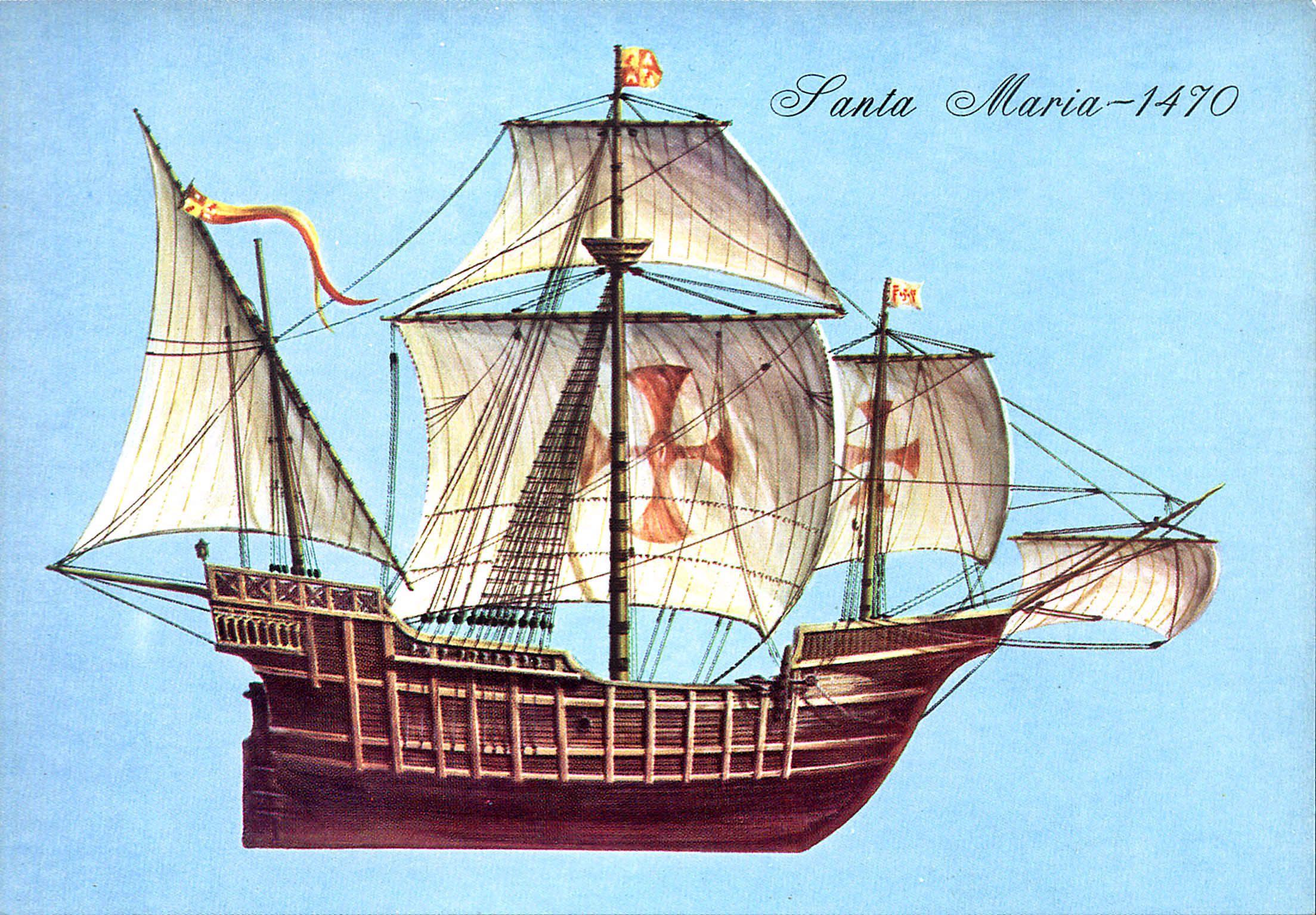 Картинки корабля санта мария