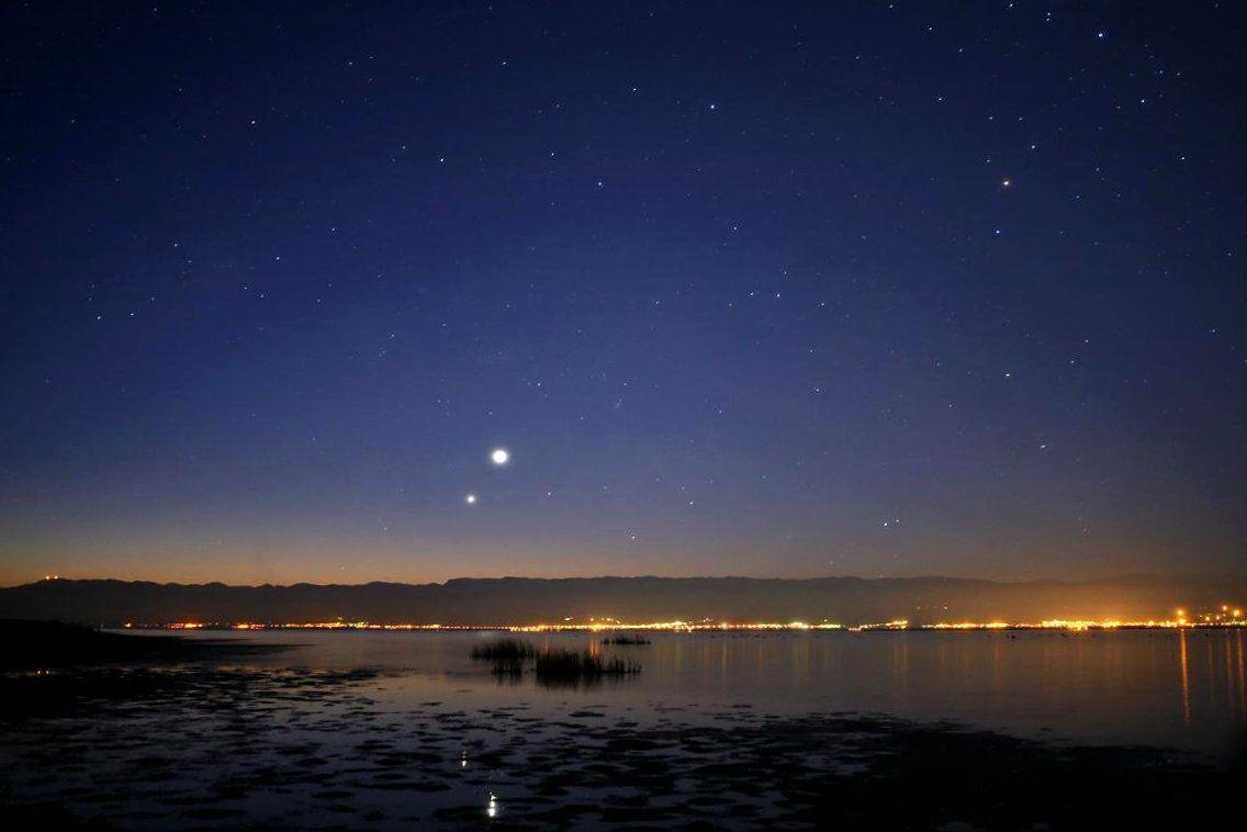 охапку венера на звездном небе фото перед дизайнером стоит
