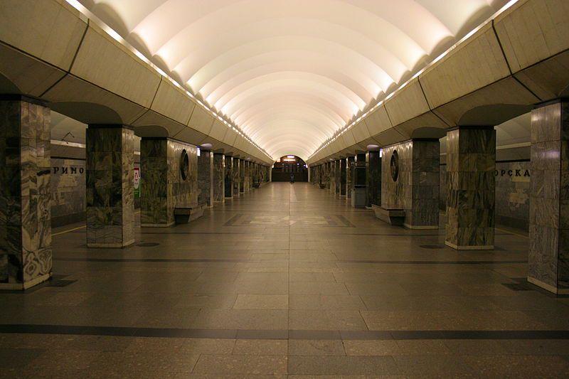 Станция метро «Приморская»
