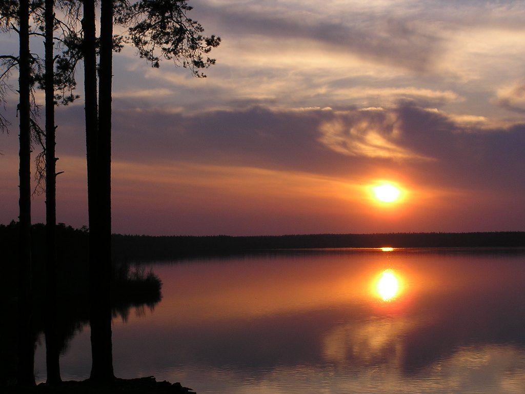 Большое Симагинское озеро в Санкт Петербурге