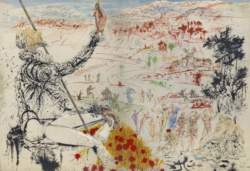 Выставка «Атака Дон Кихотов. Дали. Литографии. Зверев. Живопись, графика»