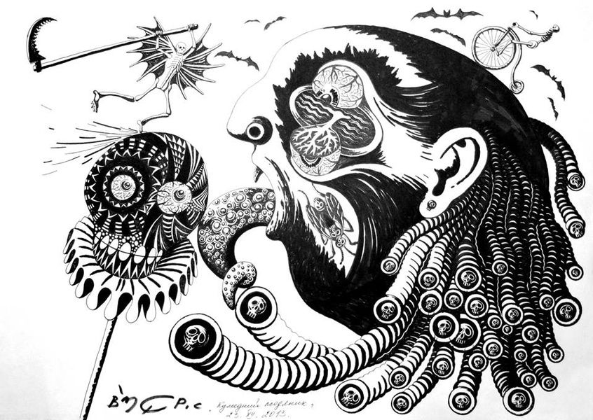 Выставка графики Валерия Губенина «Биобунт»