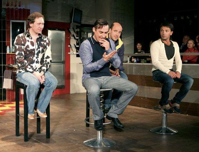 Спектакль «Разговоры мужчин среднего возраста о женщинах, кино и алюминиевых вилках»