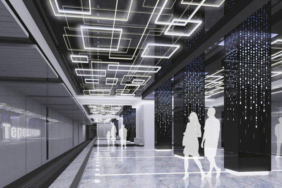 Вмосковском метро появятся станции состереопотолком иразноцветной подсветкой