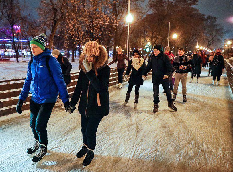 Каток вПарке Горького будет бесплатным для студентов-очников 25января