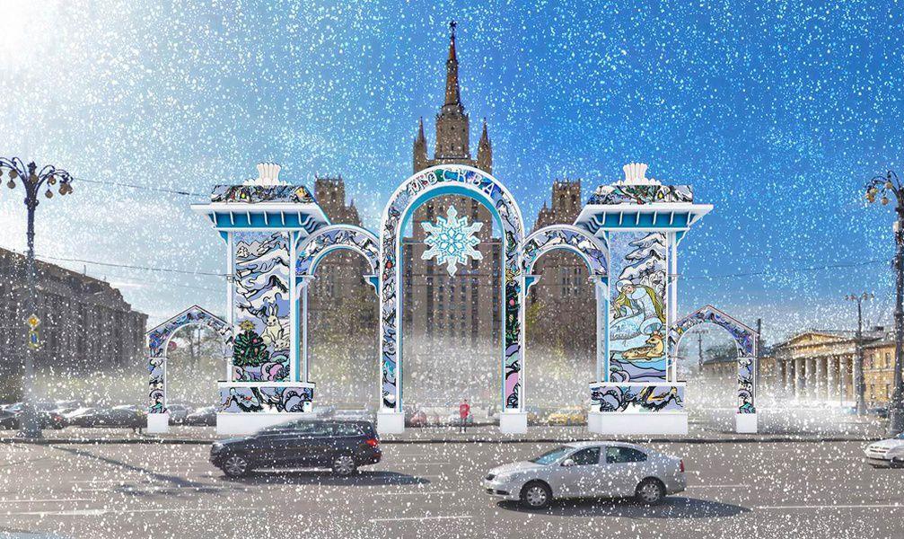 Арки сизображениями героев советских новогодних открыток установят в столицеРФ