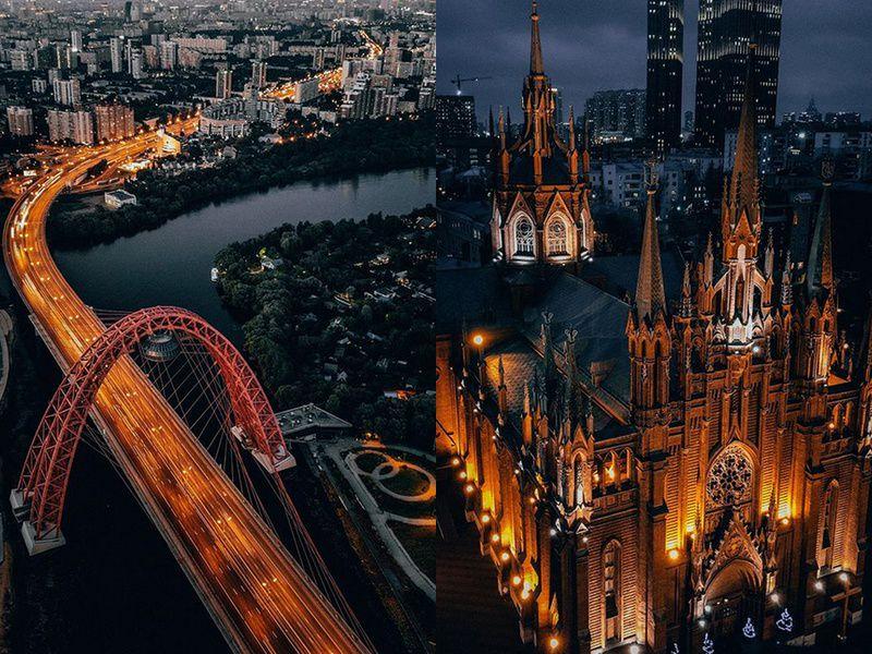 Фото: drone_original. Живописный мост. Кафедральный Собор Непорочного Зачатия Пресвятой Девы Марии.
